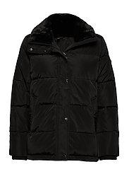 Boxy Down Jacket - BLACK