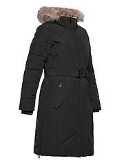 Lauren Ralph Lauren - Belted Hooded Down Coat - parkacoats - black - 7
