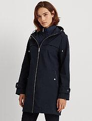 Lauren Ralph Lauren - Hooded Quilted-Bib Jacket - quiltede jakker - navy - 0