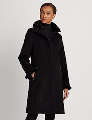 Lauren Ralph Lauren - Wool-Cashmere Coat - uldfrakker - black - 0