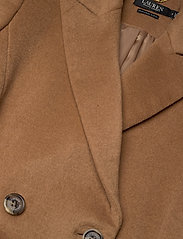 Lauren Ralph Lauren - Wool-Blend Maxi Coat - uldfrakker - new vicuna - 2