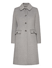 Wool-Cashmere Coat - LIGHT HEATHER GRE