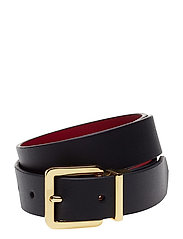 Dryden Reversible Belt - BLACK/CRIMSON