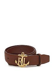 Anchor Leather Belt - LAUREN TAN