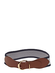 Cornwall II Stretch Belt - LAUREN TAN - NAVY