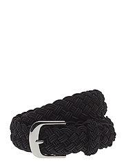 Woven Stripe Belt - BLACK