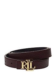 Reversible Leather Belt - BORDEAUX/LAUREN N