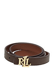 Reversible Leather Belt - LAUREN TAN/DARK B