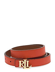 Reversible Leather Belt - PUMPKIN/LAUREN TA