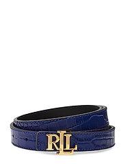 Reversible Leather Belt - DEEP BLUE/BLACK