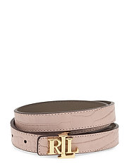 Reversible Leather Belt - MELLOW PINK/TAUPE