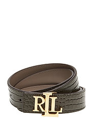 Reversible Leather Belt - DEEP OLIVE/TAUPE