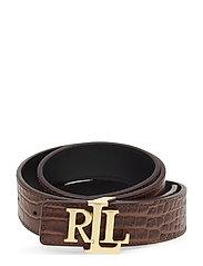 Reversible Leather Belt - UMBER BROWN/BLACK