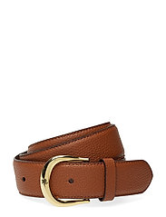 Pebbled Leather Belt - LAUREN TAN