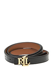 Reversible Leather Belt - BLACK/LAUREN TAN