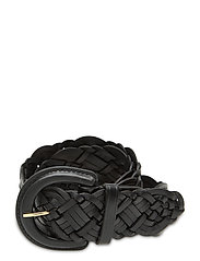 Braided Leather Belt - BLACK
