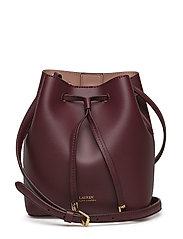 Leather Debby II Mini Drawstring Bag - MERLOT ROSE SMOKE. 40%. Lauren Ralph  Lauren. Leather debby ii mini ... 10d44ab4285e6