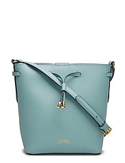 Leather Debby II Mini Drawstring Bag - SEAFOAM/BLUE MIST