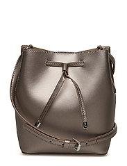 Leather Debby II Mini Drawstring Bag - TWILIGHT/PORCINI