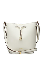 Leather Debby II Mini Drawstring Bag - VANILLA/FIELD BRO