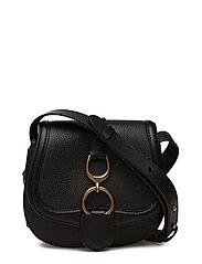 Small Leather Saddle Bag - BLACK