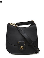Pebbled Leather Crossbody Bag - BLACK TONAL