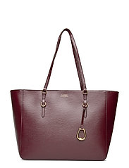Saffiano Leather Tote - BORDEAUX
