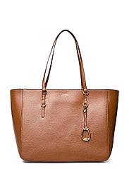 Saffiano Leather Tote - LAUREN TAN