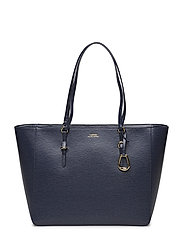 Saffiano Leather Tote - NAVY