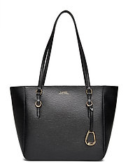 Leather Oxford Tote - BLACK