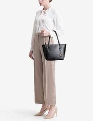 Lauren Ralph Lauren - Saffiano Leather Medium Tote - fashion shoppers - black - 1