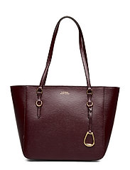 Saffiano Leather Medium Tote - BORDEAUX