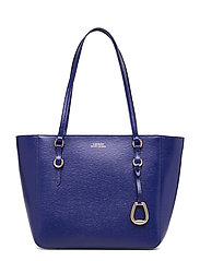 Saffiano Leather Medium Tote - DEEP BLUE
