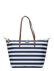 Nylon Tote - NAVY STRIPE