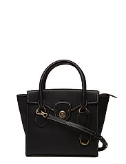 Pebbled Leather Medium Satchel - BLACK