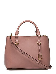 Saffiano Leather Satchel - ROSE SMOKE/PORCIN