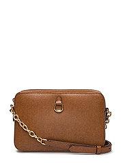 Leather Medium Crossbody Camera Bag - LAUREN TAN