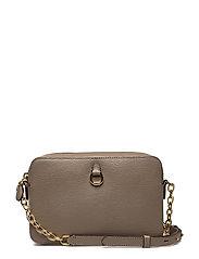 Leather Medium Crossbody Camera Bag - TAUPE