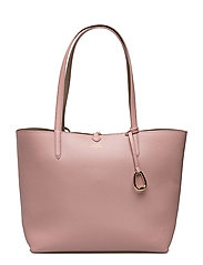 Reversible Faux-Leather Tote - ROSE SMOKE/TAUPE
