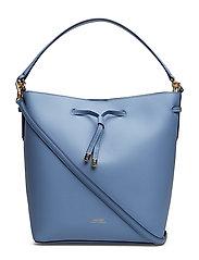 Leather Debby Drawstring Bag - BLUE MIST/COSMIC
