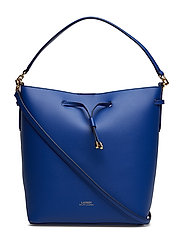 Leather Debby Drawstring Bag - COSMIC BLUE/BLUE