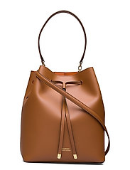 Leather Debby Drawstring Bag - LAUREN TAN/MONARC