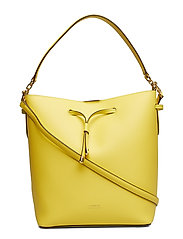 Leather Debby Drawstring Bag - LEMON SORBET/ALPA