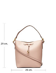 Leather Debby Drawstring Bag - MELLOW PINK/PORCI