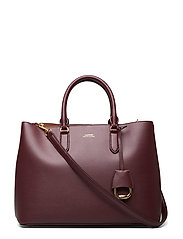 Leather Marcy Satchel - BORDEAUX/FIELD BR