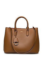 Leather Marcy Satchel - FIELD BROWN/ORANG