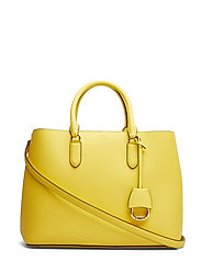 Leather Marcy Satchel - LEMON SORBET/ALPA