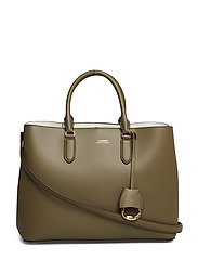 Leather Marcy Satchel - SAGE/VANILLA