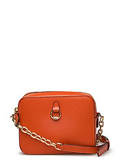 Leather Chain-Link Camera Bag - BURNT ORANGE