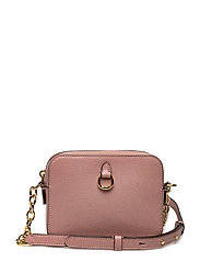 Leather Chain-Link Camera Bag - ROSE SMOKE